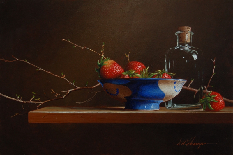 Still Life with Strawberries and Blue Bowl