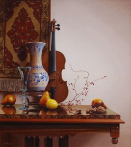 Still Life with Delft Vase and Lemon
